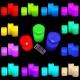 Bougies LED, vraies bougies de cire, RGB, avec contrôle, pack 3