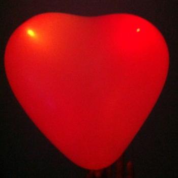 Globos fiesta Led, corazón, rojo