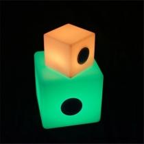 Cube Speaker Bluetooth lumineux LED lumière 16 couleurs portables différentes tailles