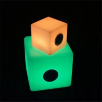 Led light bluetooth speaker cube, different sizes, light of 16 colors, portable