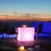Cubo luminoso led 60 cm, luz 16 colores, portátil