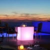 Cubo luminoso led 60 cm, luz 16 cores, bateria recarregável
