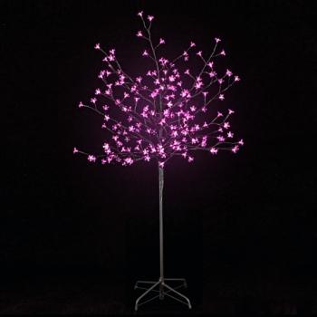 Árvore Led 150cm, 200 LEDs luz rosa