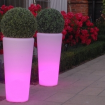 Flowerpot 90cm Led light RGBW 16 colors and battery 'Vigo'