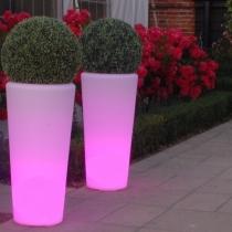 Vaso com luz led, Roma, rgb, recarregável, Vigo