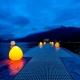 Lâmpada led bola 'Rock' 30cm, luz 16 cores, portátil