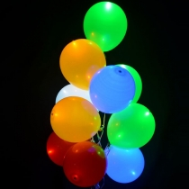 Ballons led colorés, 30cm