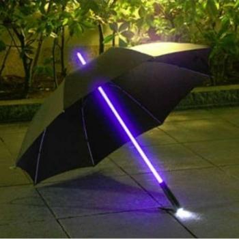 Parapluie avec la lumière de LED, lumineux