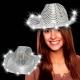 Chapeaux de cowboy de led noirs