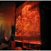 Fiber optic curtains