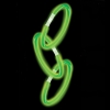 100 bracelets de fête lumineux, lueur, vert