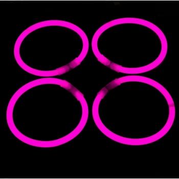 100 bracelets de fête lumineux, lueur, rose