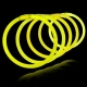100 Pulseras fiesta luminosas, glow, amarillas