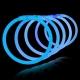 100 Pulseras fiesta luminosas, glow, azul