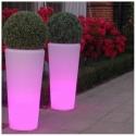 Vasos plantadores potes luminosos