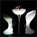 Tables d'hospitalité lumineuses
